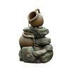 Jeco Inc. Polyresin & Fiberglass Tiered Pots Fountain