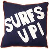 My World Catch a Wave Surfs Up Cotton Throw Pillow