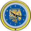 """Trademark Global NBA Golden State Warriors 2015 Champions 14.5"""" Double Ring Neon Wall Clock"""