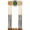 Trademark Global University of Oregon Wood and Mirror Wall Cue Rack