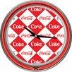 "Trademark Global Coca Cola 14.5"" Checker Wall Clock"