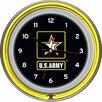 "Trademark Global U.S Army 14.5"" Double Ring Neon Wall Clock"