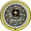 "Trademark Global U.S Army 14.5"" Digital Double Ring Neon Wall Clock"