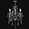 Worldwide Lighting Kronos 4 Light Crystal Chandelier