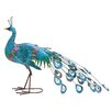 Woodland Imports Metal Crafted Peacock Décor Figurine
