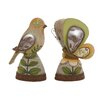 Woodland Imports The Sweetest Polystone 2 Piece Solar Bird and Butterfly Figurine Set