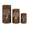Woodland Imports The Exceptional 3 Piece Metal Hurricane Set