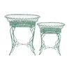 Woodland Imports Intricate 2 Piece Novelty Plant Stand Set
