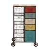Woodland Imports Kitchen Cart with Wooden Top