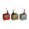 Woodland Imports Rustic 6 Bottle Tabletop Wine Rack (Set of 3)
