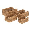 Woodland Imports Creative Styled Fascinating 4 Piece Sea Grass Basket Set