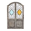 Woodland Imports Supreme Wood / Metal and Glass Wall Décor Room Divider
