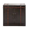 Woodland Imports Gothic Wood / Leather Cabinet