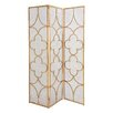 "Woodland Imports Useful 78"" x 57"" Metal 3 Panel Room Divider"
