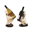 Woodland Imports 2 Piece The Delightful Chef Wine Holder Figurine Set