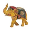 Woodland Imports Attractive and Ethnic Wood Metal Painted Elephant Figurine