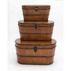 Woodland Imports 3 Piece The Cutest Wood Trunk Set