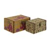 Woodland Imports Wonderful 2 Piece Wood Canvas Box Set