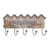 Woodland Imports Striking Wood / Metal Welcome Hook