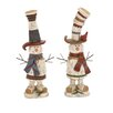 Woodland Imports 2 Piece Decorative Snowman Set