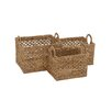 Woodland Imports 3 Piece Incredible Seagrass Basket Set