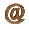 Woodland Imports Modern and Ultra-Cool Wood Letter Block