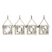 Woodland Imports 4 Piece Too Cool Wood Wall Mirror Set