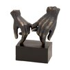 Woodland Imports Polystone Hands on Base Sculpture