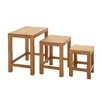 Woodland Imports 3 Piece Beautiful Nesting Tables