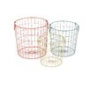 Woodland Imports 3 Piece Colorful Alluring Metal Basket Set