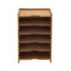 Woodland Imports Contemporary Styled Wood Magazine Rack