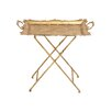 Woodland Imports Classy Styled Metal Tray Table