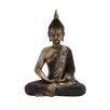 Woodland Imports Most Unique Polystone Sitting Buddha Figurine