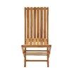 Woodland Imports Portable and Useful Wood Teak Folding Chair