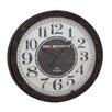 """Woodland Imports Oversized 31"""" Wood Wall Clock"""