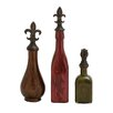 Woodland Imports 3 Piece Simply Divine Glass Polystone Decorative Bottle Set