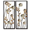 Woodland Imports 2 Piece Beautiful and Elegant Metal Wall Décor Set