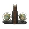 Woodland Imports Wood Metal Book End (Set of 2)