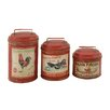 Woodland Imports 3 Piece Attractive Decorative Canister Set
