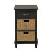 Woodland Imports 1 Drawer Chest with 2 Basket
