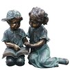 Woodland Imports Boy and Girl Reading Together Statue