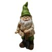 Woodland Imports Gnome with Shovel Statue