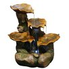 Woodland Imports Leaf Polyresin Tiered Fountain