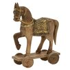 Woodland Imports Wood Metal Horse