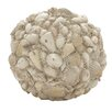 Woodland Imports Decorative Fascinatingly Crafted Shell Ball