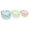 Woodland Imports 3 Piece Marvelous Storage Basket Set