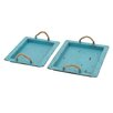 Woodland Imports 2 Piece Superb Tray Set