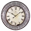 "Woodland Imports Oversized 35"" Modish Banded Wall Clock"