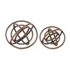 Woodland Imports 2 Piece Ring Patterned Decorative Orb Set