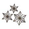 Woodland Imports 3 Piece Star Mirror Set (Set of 3)
